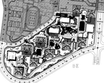 [重庆]生态组团式公租房景观设计全套施工图(园建+绿化+水电)