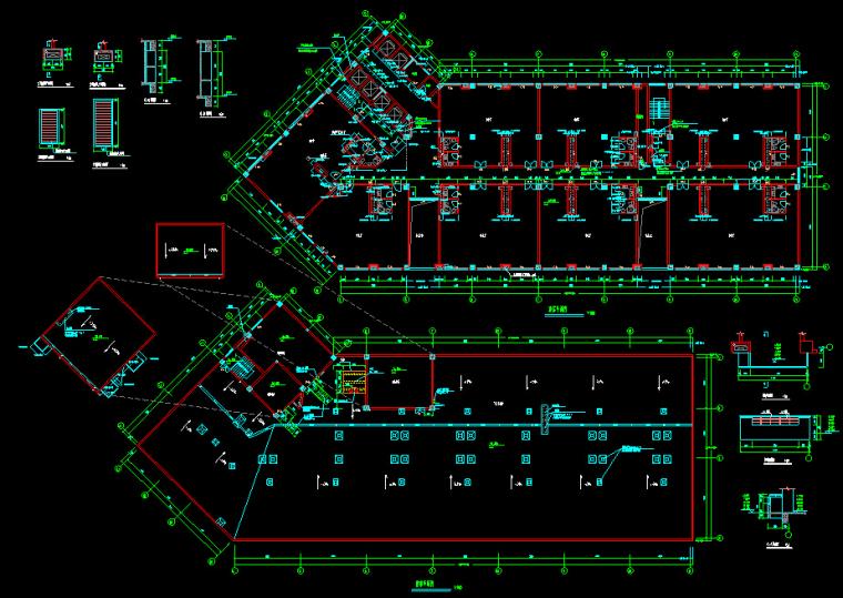 黄金海岸商住综合楼建筑设计方案(施工图CAD及效果图)