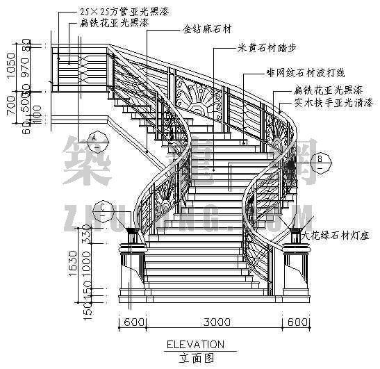 酒店楼梯图块