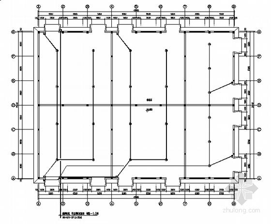 某可燃易爆仓库报警系统平面图