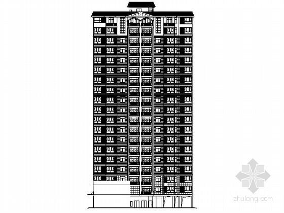 [广西]某十八层商住楼建筑施工图(含入户花园、观景阳台)