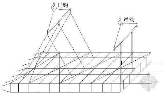 连续墙吊放钢筋笼示意图