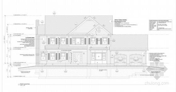 [英文图纸]某二层英式独栋别墅建筑施工图
