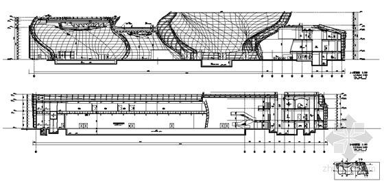 [上海世博会]西班牙馆建筑施工图-剖面图