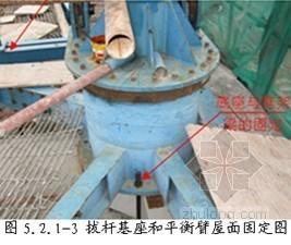 定型回转式拔杆拆卸内爬塔吊施工工法