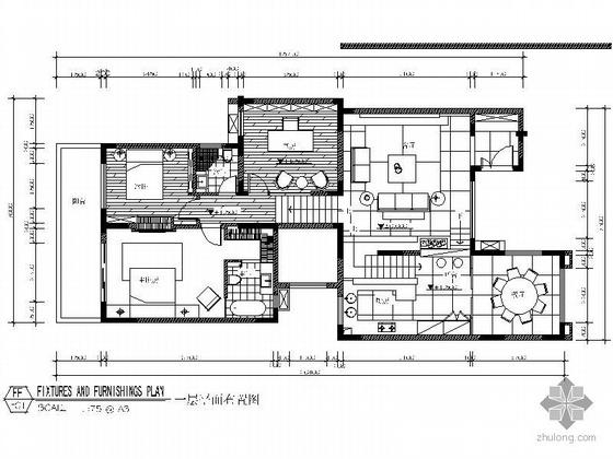 [南京]某叠加别墅样板房施工图