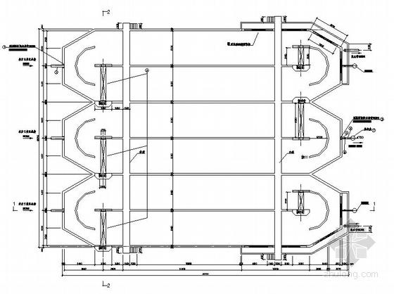 某污水处理工程三沟式氧化沟与可调出水堰详图