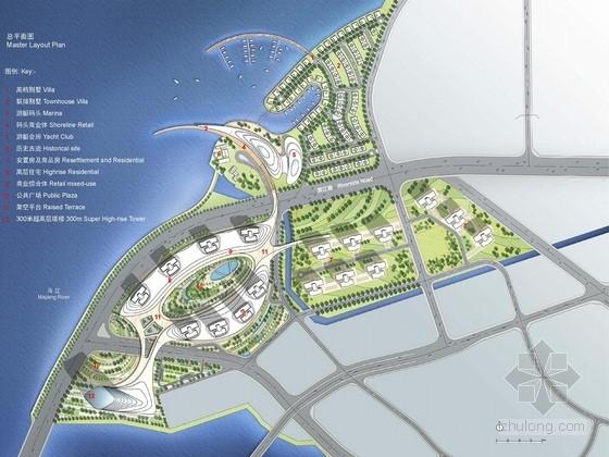 [福州]大型滨河片区概念规划设计(英国著名公司设计)