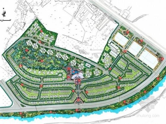 [广东]东南亚风格滨河高档居住区景观规划设计方案