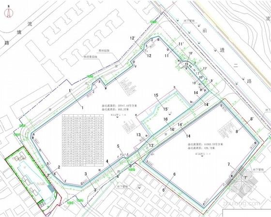 [广东]深基坑土钉墙结合桩锚支护施工图