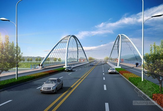 跨线特大钢拱桥道路工程全套施工组织设计(160页 路桥 排水 内容丰富)