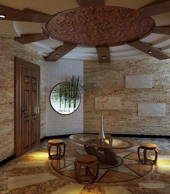 [无锡]滨湖知名地产现代五居室装修图(含效果)入户花园效果图