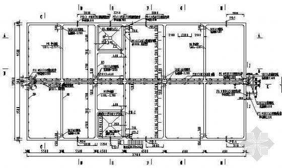 接触氧化池二沉池结构施工图纸