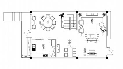 [四川]优雅简欧风格三层别墅室内软装设计方案