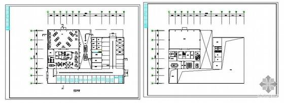 某汽车展厅厂房结构图