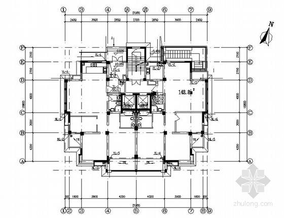 某十五层普通住宅给排水设计图