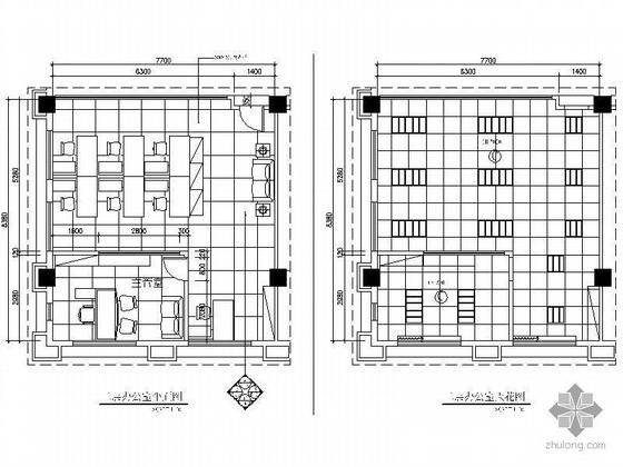 某小型办公室设计图