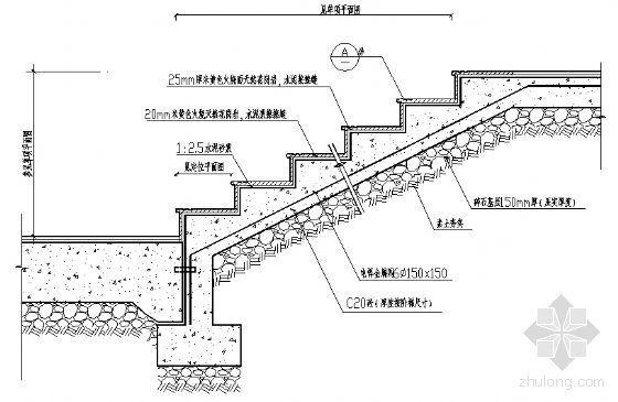 标准踏步剖面图
