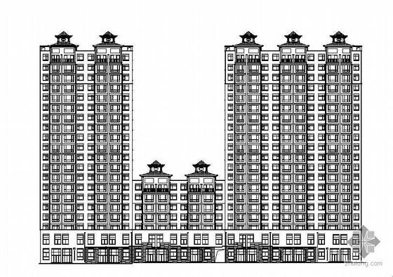 某著名设计院二十层底商住宅楼建筑方案扩初