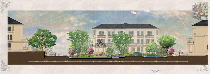 [绍兴]法式园林别墅区景观设计方案-立面图
