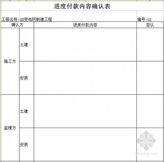 工程款结算常用表格(附监理审核说明及月报表)
