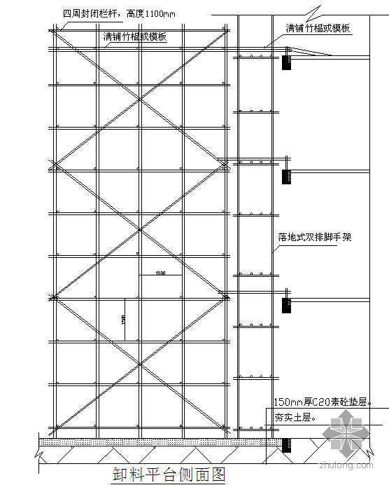 福建某医院综合楼工程卸料平台搭设方案(落地式)