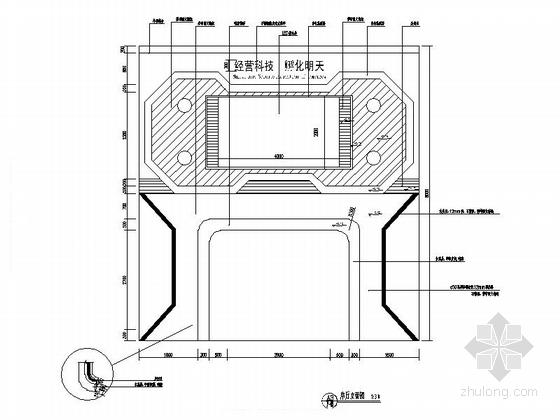 [重庆]高新智能科技功能规划产业园展示厅装修施工图(含效果)序厅立面图