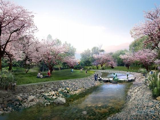 公园景观设计psd效果图分层素材