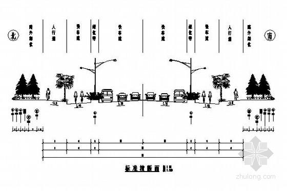 [安徽]50米宽沥青路面市政道路工程施工图48张(含排水)