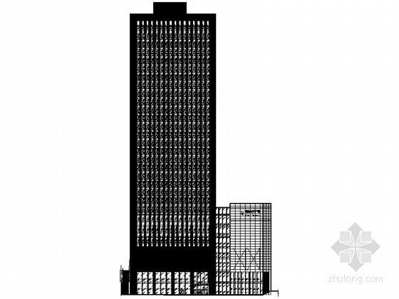 [重庆]某三十层商业写字楼建筑施工图(含模型效果图)