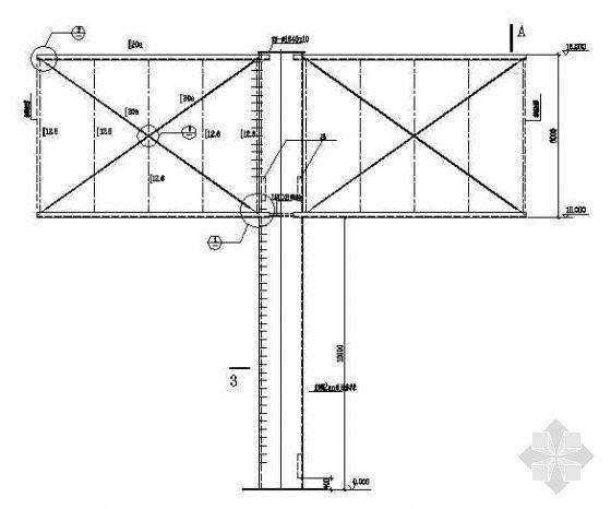 某钢结构广告牌的图纸(单面,三面)