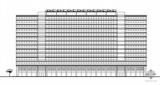 [杭州市]某十四层商业综合楼建筑施工图及室内装修施工图