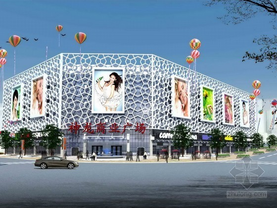 [湖南]某五层大型综合商场建筑方案图(含效果图、模型)