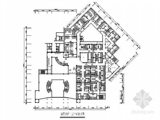 某大型花园酒店平面CAD图块下载