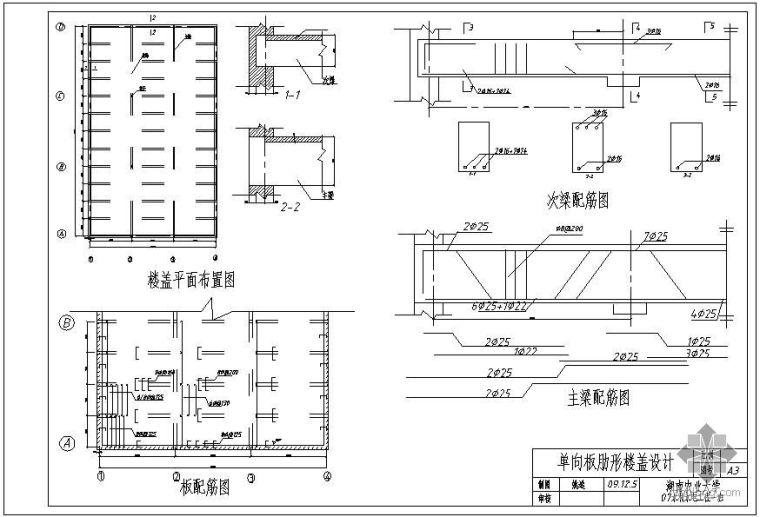 [学士]单向板肋形楼盖课程设计