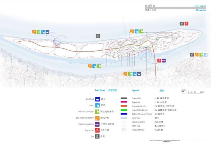 [湖南]江心之洲水映江花滨水河道景观设计