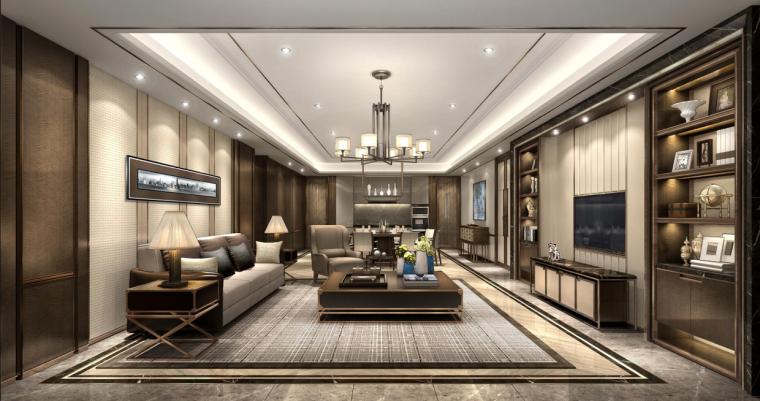 [北京]梁志天-北京中骏天宸住宅项目四居室样板房深化设计方案