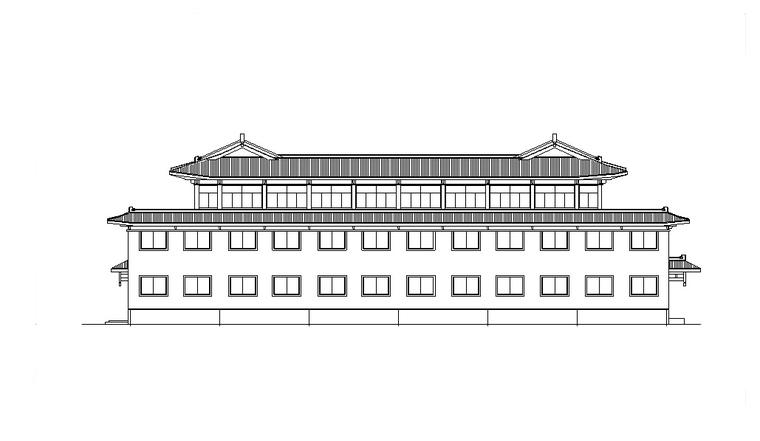 洗浴中心娱乐建筑设计方案初设图CAD