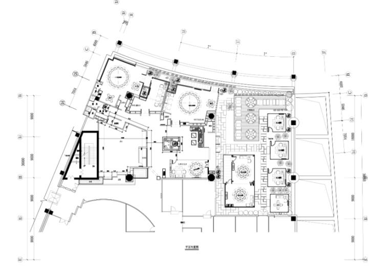 某茶餐厅混搭风格室内设计施工图(含效果图)
