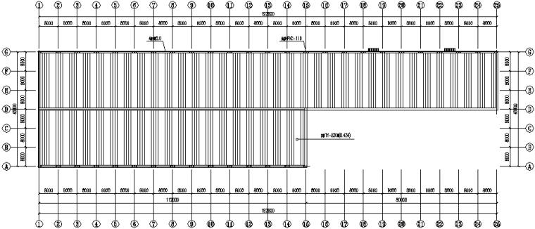 湖北门式刚架钢结构厂房施工图(CAD,12张)_1