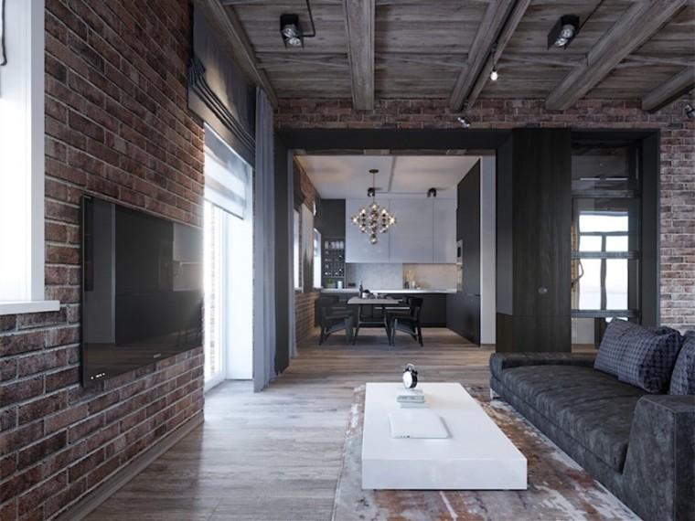 俄罗斯Loft风阁楼公寓