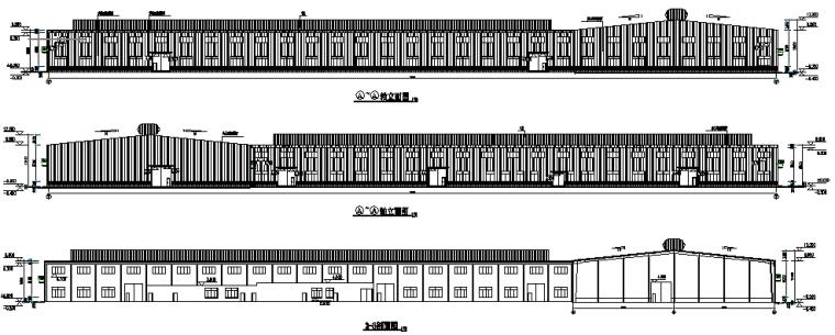 单层门式刚架钢结构厂房施工图(CAD,4张)