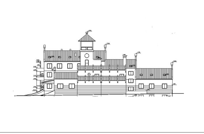 某中式仿古多层接待中心建筑设计方案施工图CAD