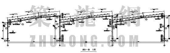 单层三连跨带吊车钢结构厂房