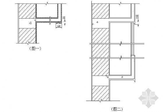 不封闭阳台、封闭阳台、雨棚滴水线作法