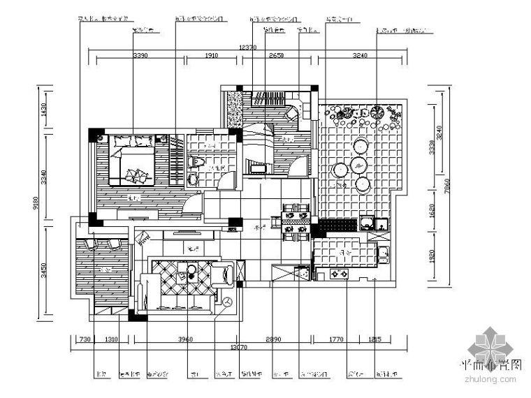 现代二室二厅装修图