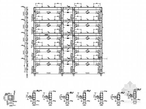 [学士]某五层框架银行办公楼毕业设计(含计算书,部分建筑、结构图)