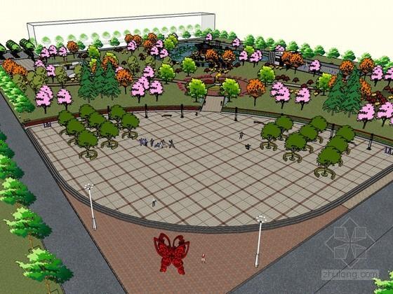 健身公园设计SketchUp模型下载