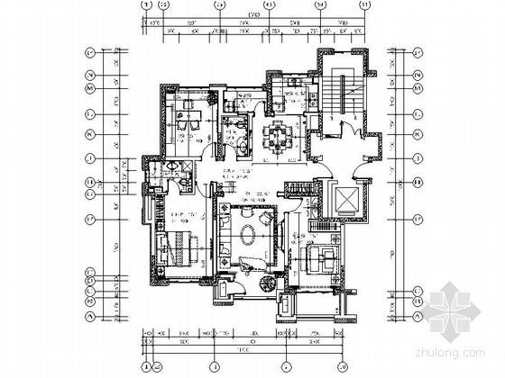 [武汉]都市核心区法式三居室样板间装修图