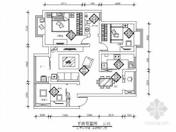 [原创]三口之家现代风格三居室装修图(含效果)